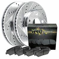 4 Platinum Hart *DRILLED /& SLOTTED* Disc Brake Rotors 1925 2 FRONT + 2 REAR