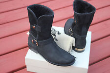 BURBERRY GARTON  BLACK ANKLE BOOTS #7us $895