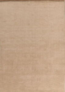 Solid Contemporary Gabbeh Hand-Knotted Oriental Area Rug Dining Room Carpet 7x10