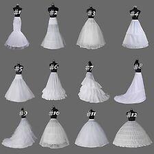 White A Line/mermaid hoop bridal Crinoline/Petticoat/Slips/Underskirt wedding