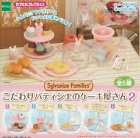 Sylvanian Families Good pastry cake shop's 2 All 5 set Gashapon mascot toys
