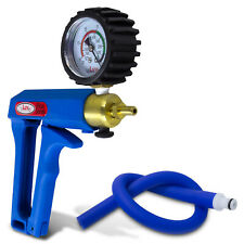 Vacuum Penis Pump LeLuv MAXI Blue Handle with Protected Gauge and Silicone Hose