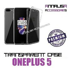 COVER TRASPARENTE PER ONEPLUS 5 CUSTODIA SILICONE TPU TRANSPARENT CASE 0,3mm
