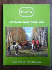 Catalogue de Vente Piasa Drouot ART ANIMALIER Chasse Arme Ancienne Venerie