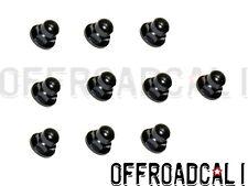 10 pack License Plate Mounting Nut Black Acorn Metric 6mm Fits: Volvo