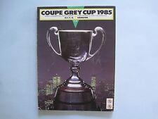 1985 B.C. BC LIONS VS HAMILTON TIGER-CATS CFL GREY CUP FOOTBALL PROGRAM MONTREAL