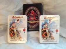 Budweiser Beer Playing Cards Brand New vintage Metal Container England Nice Set