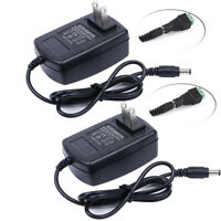 2PCS New AC 110-240V To DC 12V 2A Power Supply Adapter Transformer For LED Strip