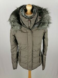 Womens EDC by Esprit Down Parka Jacket Size Small Slim Fit Taupe BNWT