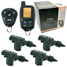 Avital 3305L 2-Way Keyless Entry Security System + 4 Universal Door Lock