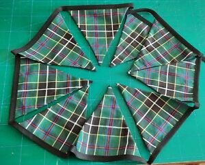 Handmade Cornish Hunting Tartan Bunting (Made in Cornwall) (away 10-17 Sept)