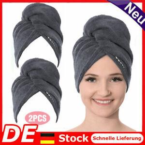 2er Set Haarturban aus Microfaser / Kopfhandtuch / Haartrockentuch