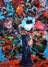original HandSigniert Ernst Fuchs Bunter Blumenstrauß Marc Chagall Salvador Dali