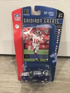 Eli MANNING NY GIANTS SET RARE CARD & DIECAST COLLECTIBLE CAR MUSTANG GT 2006