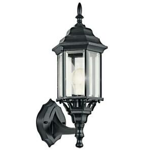 Kichler Chesapeake 17 in. 1-Light Black Outdoor Wall Mount Sconce