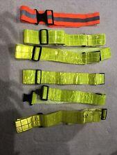 Lot Of 6 Re-Flex Runners Reflective Belt Reflective Gear Orange Yellow Clip On.
