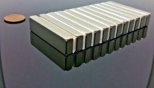 """2 Neodymium Rare Earth N42 Bar Magnet 5,000 Gauss Super Strong 2"""" x 1/2"""" x 1/4"""""""