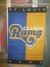 """New St. Louis Rams 29"""" X 45"""" Banner Flag ~ All Cotton ~"""