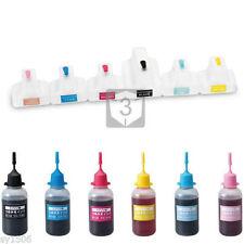 Refillable Ink Cartridges Kit for HP 363 Photo Smart C5180 C5185 C6150 C6180