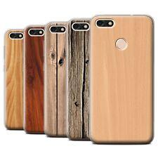 STUFF4 Gel/TPU Case/Cover for Huawei P9 Lite Mini/Wood Grain Effect/Pattern
