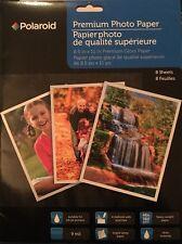 Photo Paper POLAROID Premium Gloss 8.5 x 11 (8) Sheets Print Picture New