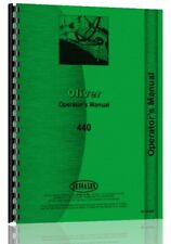 Oliver 440 Tractor Operators Owners Manual