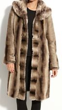 Stunning Ellen Tracy Faux fur Long coat size 16 Large BRAND NEW no tags rrp £199