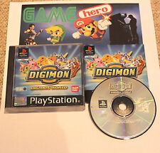 DIGIMON WORLD PLAYSTATION 1 PSX PS1 PAL COMPLETE BLACK LABEL TESTED WORKING RARE
