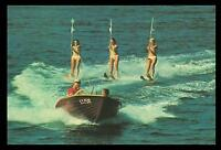 WATER SKIING at GOLD COAST in BIKINIS POSTCARD - NEW & PERFECT