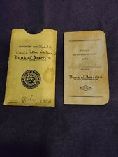 VINTAGE School Savings Account Book Booklet BANK OF AMERICA Marked 1937/38 CA