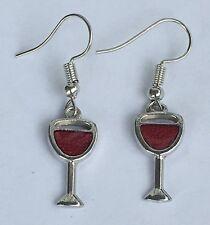 Earrings/Red Wine/ Women/PartyJewelry/New/Me rlot Wine Glass Earrings/Dangle Hook