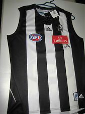 COLLINGWOOD- ALAN DIDAK SIGNED MAGPIES  JERSEY UNFRAMED + PHOTO PROOF & C.O.A