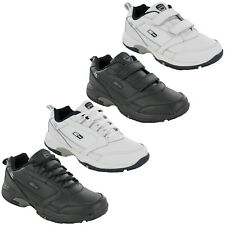 Mens Casual Leather Trainers DEK Lightweight Touch & Lace Fasten Sports Shoes