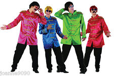 Mens 60s 70 Sgt Sergeant Pepper Beatles Pop Rock Star Fancy Dress Costume Jacket