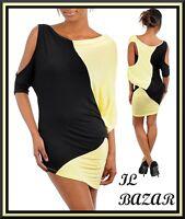 vestito donna mini abito corto assimetrico oblo'