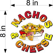"""8"""" X 8"""" Nachos W Cheese Full Color Graphic Vinyl Decal"""