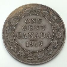 1919 Canada Copper 1 One Large Cent Penny Circulated Canadian Coin D352