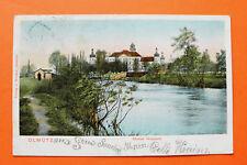 Tschechien CZ AK Olmütz Olomouc 1904 Kloster Hradisch Fluss Gebäude Kirche +++