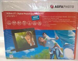 """Agfa 7"""" Led Backlit Digital Photo Frame AF50782PS - Brand New Sealed #444"""