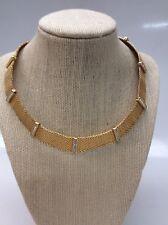 Stunning vintage Signed Swan Swarovski Crystal gold tone Collar Necklace