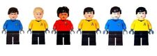 Custom Designed Minifigure - Star Trek Set Of Six Kirk etc Printed On LEGO Parts