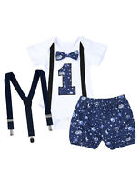 Infant Baby Boys 1st Birthday Romper Party Clothing Outfit Toddlers Jumpsuit Set