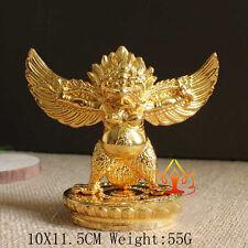 Buddha Tibet Tibetan  Buddhist Copper Gild Garuda Dhwaja Bird For Car Statue