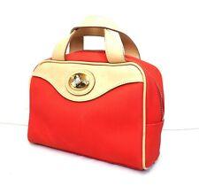 CHRISTIAN DIOR Sport hand bag red beige vinyl leather vintage small mini handbag
