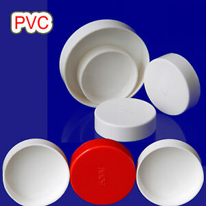 PVC Cap End Caps Plug Blanking 50-200mm Water Adhesive Drain Pipe Tube Fittings