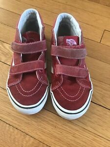 Vans Boys Red Classic High Top Sneakers - Sz 2.5 ❤️