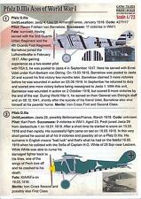 Print Scale Decals 1/72 PFALZ D.IIIa ACES German World War I Fighter