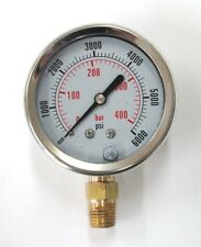 PG 6000 - 6000 PSI 2-1/2'' Diameter Bottom Mount Pressure Gauge
