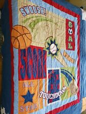 Circo Sports Football Soccer Basketball All Star Full/Queen Quilt & 2 Shams