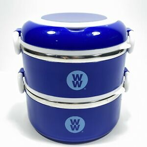 WW Weight Watchers Stackable Lunch Bento Snack Box Stainless Steel Container